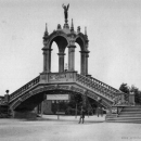 Bridge at the industrial exhibition in Dusseldorf 1880