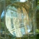 Detail Hohlspiegelobjekt im Skulpturenpark Schloss Morsbroich in Leverkusen